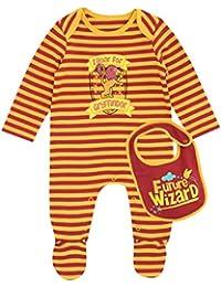 Harry Potter Pijama Entera con babero para Niños Bebés - Gryffindor