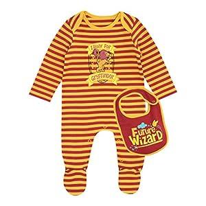 Harry-Potter-Pijama-Entera-con-babero-para-Nios-Bebs-Gryffindor