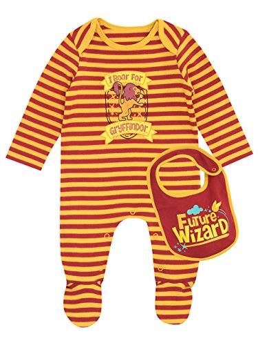Harry Potter - Pijama Entera con babero para Niños Bebés - Gryffindo