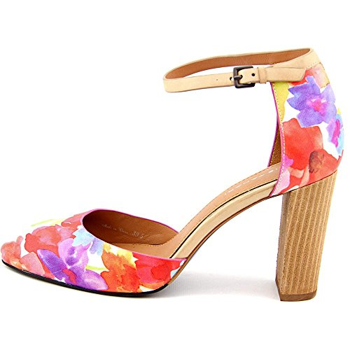 Elie Tahari Essex Synthétique Talons Floral-Natural