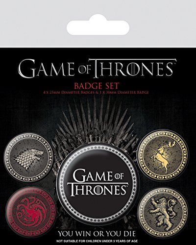 Game of Thrones Abzeichen, Plastik, Mehrfarbig, 10 x 12.5 cm (Pin Set Disney)