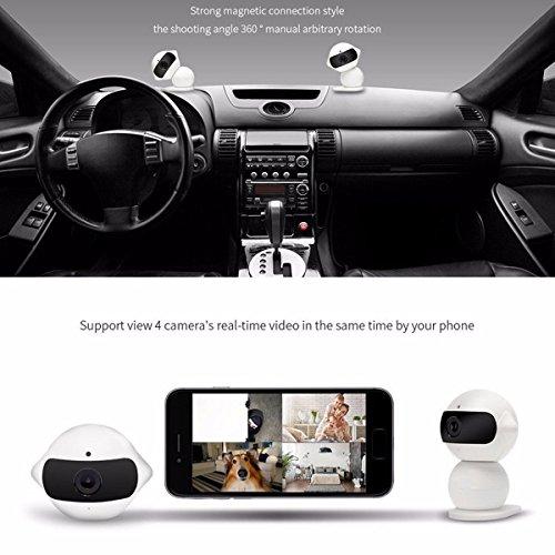 Wireless IP Überwachungskamera – ELEGIANT Mini Roboter 360 Grad Schwenkbar Drahtlose WLAN Wifi - 8