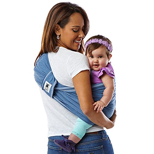 515kDuCK1pL. SS500  - Baby K'tan Cotton Denim Baby Carrier (Small)