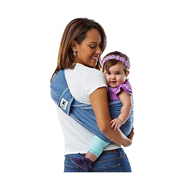 Baby K'tan Carrier Cotton (Small, Denim) Baby Ktan Easy to use and put on: NO WRAPPING INVOLVED.  6 positions to conveniently carry baby & toddlers from 8 lbs to 35 lbs 100% soft natural cotton with unique one-way stretch Unique HYBRID double-loop design holds baby securely and evenly distributes weight across back and both shoulders. Washer & dryer safe 13