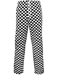b9e711d3ffd6 FUSION CATERING Chef's Trousers CHEQUERBOARD : Unisex CHEQUERBOARD  Elasticated Waistband and Drawstring