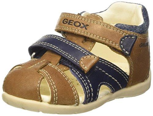 Geox Baby Jungen B Kaytan C Sandalen, Beige (Caramel/navyc5gf4), 24 EU