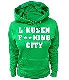 Artdiktat Damen Hoodie - Leverkusen Fucking City Größe XL, Grün