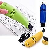 USB Vakuum Tastatur Reiniger Bürste für PC Laptop Computer Tastatur Air Fans Monitor für Pinsel Desktop Staub Collection Werkzeug für Reinigung Tastatur Staub, Paniermehl, Papier, Radiergummi Krümel, Zigarette Zufällig