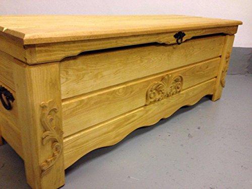 DECOCRAFT Eiche rustikal Ottoman Brust Box Couchtisch Trunk Vintage Decke Holz (BT5)
