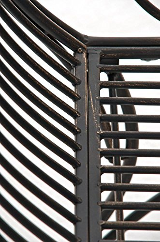 CLP Eisen-Gartenbank PARTOGUS, Recamiere rechts, romantische Verzierungen,stabile Bank, Sonnenliege, ca. 160 x 50 cm, Bronze - 7