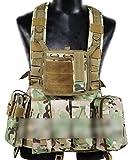 Militaire Armée Assault Combat Gilet Entraînement Protecteur Sécurité Gilet avec Poche (Multicam MC) pour Tactique de Chasse Airsoft Extérieur Camping CS Guerre Jeu