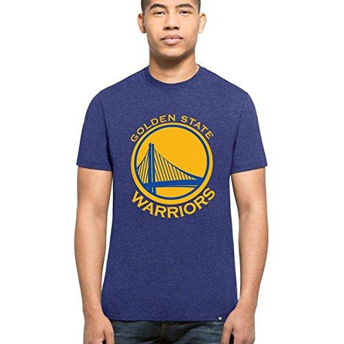 '47 Brand Golden State Warriors Club NBA T-Shirt Blau XL (Golden 47 Warriors State Brand)