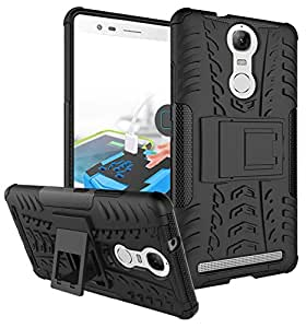 Parallel Universe Lenovo Vibe K5 Note Back Cover Case Dual Layer Rugged and Tough Defender with Built-in Stand - Black
