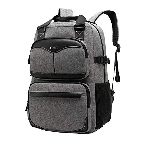 Laptop-Rucksack für 17,3-Zoll-Laptop-Tasche zurück, Unisex-Multifunktions-wasserdichter Anti-Diebstahl-Rucksack-Grey Camo-video-kameras