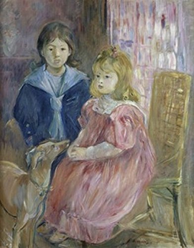 1895 Drucken (Berthe Morisot - The Gabriel Children (Les Enfants de Gabriel) 19th C. Berthe Morisot (1841-1895/French) Musee d'Orsay Paris Poster Drucken (60,96 x 91,44 cm))
