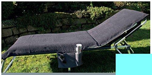Galleria fotografica Rivestimento per sedia a sdraio con tasche laterali F. Mobili da giardino/spiaggia Lettino in Spugna 70x 200cm, turchese