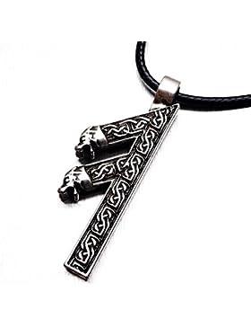 Miss–E–Jewels Anhänger TM älteren Futhark Rune Elhaz Amulett Rune Yggdrasil Viking Runic Nordic Hand Made