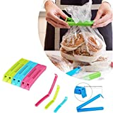 #8: Home Creations Set of 18 pc Food & Snack Plastic Pouch Sealing Clips for Keeping Snacks Air Free and Fresh