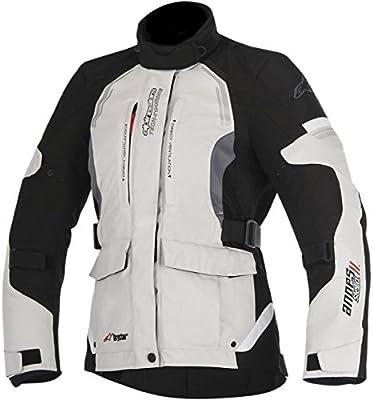 Alpinestars–Chaqueta de moto STELLA Andes V2DRYSTAR Chaqueta gris claro Negro Gris Tamaño M