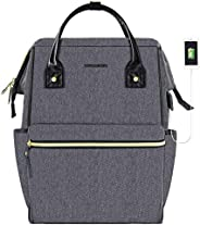 KROSER Laptop Backpack 17 Inch Stylish College Computer Backpack Fits Up to 16 Inch Laptop Water-Repellent Doc