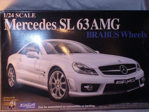 mercedes-benz-sl-klasse-sl63-amg-2010-brabus-bausatz-kit-1-24-aoshima-modellauto-modell-auto