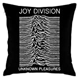 KLDECOR Joy Division Unknown Pleasures Decorative Reading Pillow Covers Case Pillowcases Kissenbezüge (45cmx45cm)