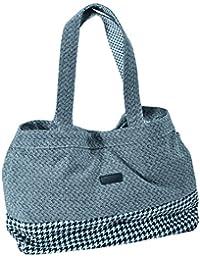 "Savebag 16728 - Sac Shopping/plage ""Patrick & Pierre"" - en coton beige/noir"