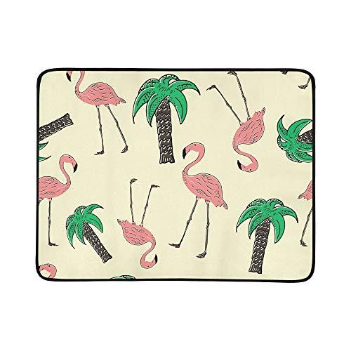 EIJODNL Tapis de Couverture Portable et Pliable Motif Oiseau Exotique 152,4 x 17,8 cm