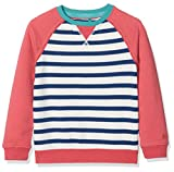 Fat Face Girl's Stripe Raglan Crew Sweatshirt