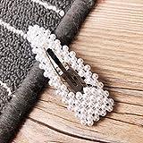 Gaddrt Haarnadel Frauen Mädchen Haarspangen Haarspange Kristall elegante Perle Haarnadel Haarspange Kopfschmuck 8x2.5cm (A)