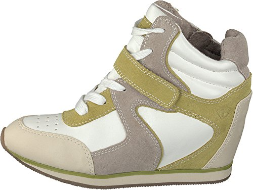 Tamaris 25200-30 Sneaker cuir Blanc/vert