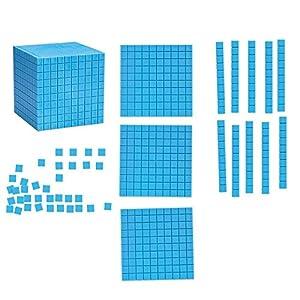 Learning Resources- Set Gigante de Base Diez magnético para Usar en explicaciones, Color (LER6366)