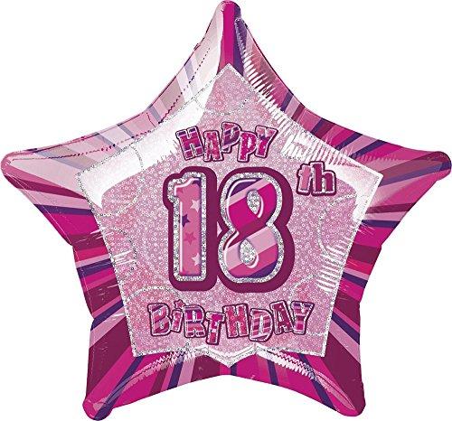 Unique Party Supplies 50,8 cm Glitz Folie Happy Birthday Helium Ballon