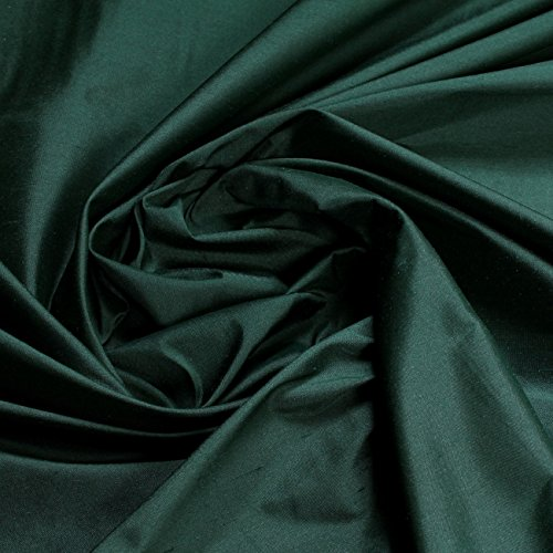 Stoff Dupionseide Taft moosgrün Seidentaft fein gleichmäßige Struktur grün Seide -