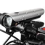 LED Fahrradbeleuchtung, amarey StVZO Zugelassen Cree XPG2 LED Fahrradlampe,USB Wiederaufladbare LED Lampe, 8 Stunden Laufzeit bei volle Helligkeit, 60Lux, IPX-4 wasserdichte Fahrradlicht für Radfahren