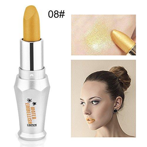 LexupeRouge à lèvres liquide hydratant rouge à lèvres métal maquillage cosmétique beauté beauté argent(argent)
