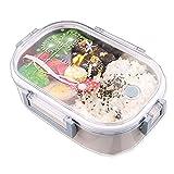 980ml Brotdose Edelstahl - Isolierung Bento-Box Lagerung von Lebensmitteln Container Dauerhaft Auslaufsicher Wiederverwendbar Einzelne Schicht für Erwachsene und Kinder