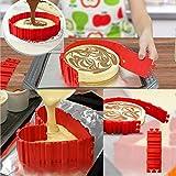 Slomg silicone tortiera stampo novità flessibile cottura stampi qualsiasi forma Bake Snake DIY antiaderente 4pezzi Maker immagine