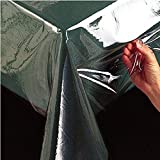 #5: Kuber Industries PVC Plastic Transparent Clear Dining Table Cover Cloth Tablecloth Waterproof Protector,60*90 Inches, Rectangle (without laced edges)