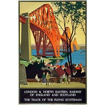 TX109 Vintage LNER Camping Coaches England Scotland Railway Poster Re-print A3