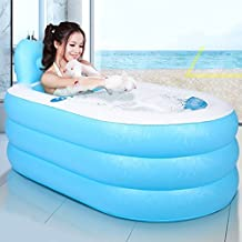 Tinksky portátil plegable PVC spawanne adultos bañera hinchable con bomba de aire