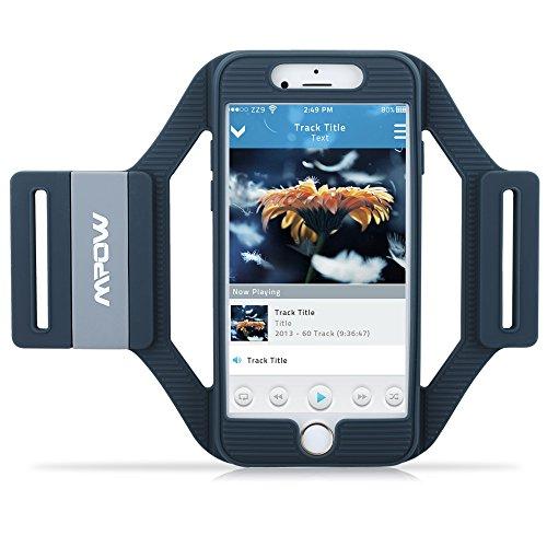 Mpow Brazalete de Silicona Antideslizante para iPhone 6 6S Banda del Brazo Deportivo con Carcasa Impermeable y Tres Correas Ajustables de Distinta Medida para Correr Hacer Ejercicio