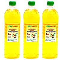 FITLITE Pack of 3 Healthy Groundnut Wood Chekku Oil 1 LTR