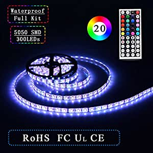 simfonio led strip beleuchtung 5m 300 leds 60 led meter wasserdicht ip65 led band mit. Black Bedroom Furniture Sets. Home Design Ideas