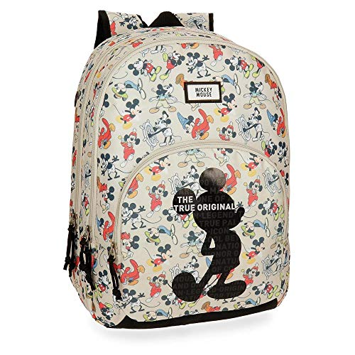 Mochila Mickey True Original 44cm doble compartimento adaptable a carro