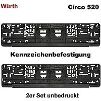Würth KSB 2er Set Kennzeichenbefestigung Kennzeichenhalter Nummernschildhalter Kennzeichenverstärker Circo 520