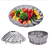 MosQuick® Stainless Steel Steamer retractable , foldable multipurpose fruit bowl steamer