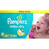 Pampers Baby Dry Giga Pack Size 6 Giga Pack 92 Nappies