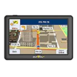 5 inch car GPS navigation PND SAT NAV with IPS & high brightness (seen under sunlight in any direction) capacitive Touch panel UK & Full Europe Map for Car & Truck Daily Use Travel(8GB)