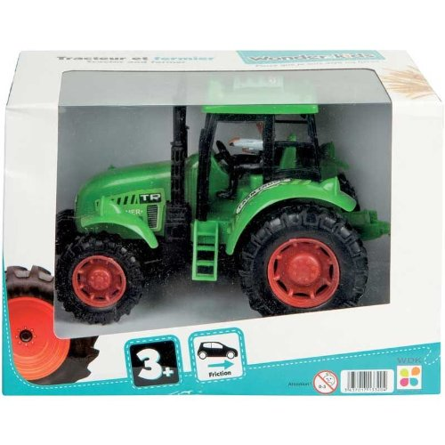 WDK PARTNER - A1300063 - Véhicules miniatures - Tracteur 16cm avec fermier - Modèle aléatoire